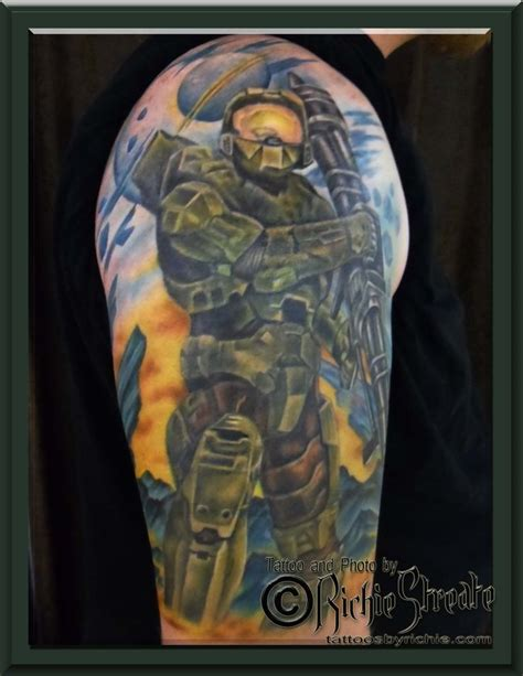 master chief tattoo 1000 ideas about halo on halo halo