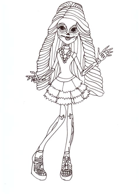monster high skelita calaveras coloring pages free printable monster high coloring pages skelita free