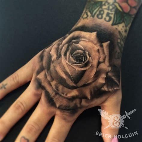 rose on hand tattoo 50 amazing tattoos