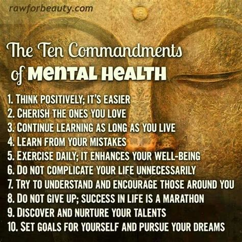 10 Commandments For A Lifelong Friendship by Ten Commandments Of Mental Health Quotes To Live By