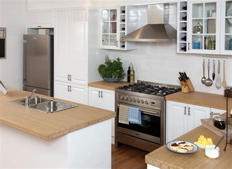 bunnings kitchens designs bamboo benchtop saw today at bunnings kitchen the