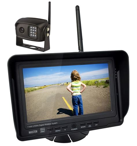 Monitor Wireless 2 4ghz hd wireless 7 quot monitor ccd rear view car truck kit ir float