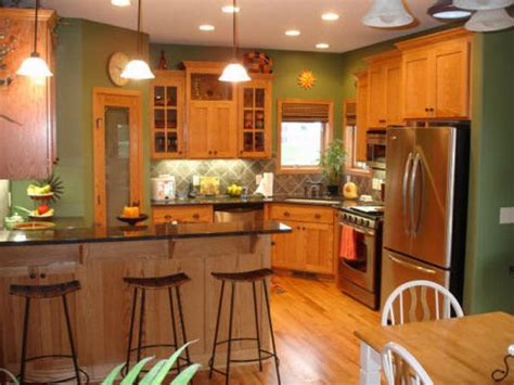 Best Kitchen Colors With Oak Cabinets | best paint colors for kitchens with oak cabinets