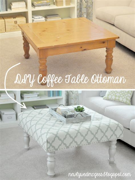 coffee table into ottoman living room diy turn a coffee table into an upholstered