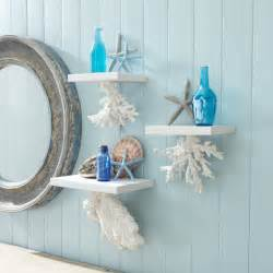 ocean themed bathroom ideas coral hanging shelves these would be perfect for my