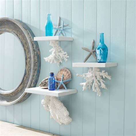 ocean themed bathroom accessories coral hanging shelves these would be perfect for my