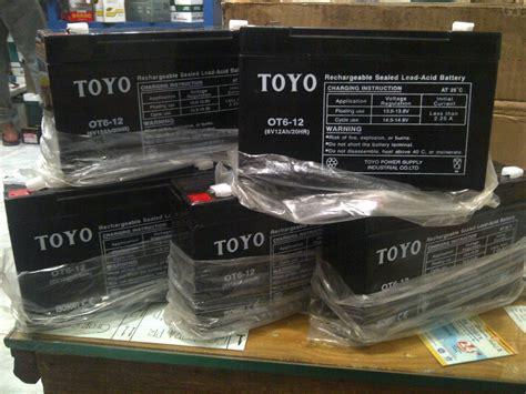 Aki Toyo Tigerscorpiothunder jual toyo 6v 12 ah aki mobil motor mainan toko aki harazaki
