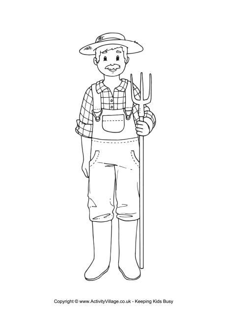 farmer coloring pages farmer colouring page