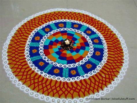beautiful and unique multicolored rangoli design diwali