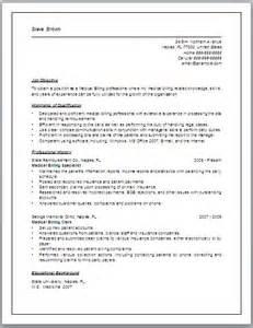 Sample resume medical billing specialist oxford press