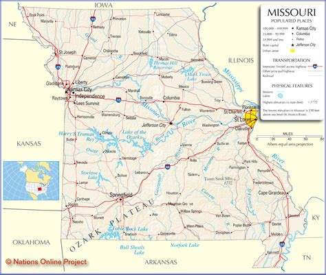 map missouri missouri map free large images