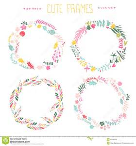 set of floral frames stock vector image 41236658
