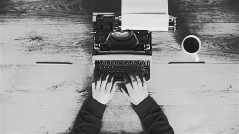 coffee writing wallpaper black and white from above shot of hands typing on a