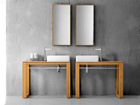Waschbecken Untertisch Holz untertisch f 252 r aufsatzwaschbecken 100x46cm massivholz