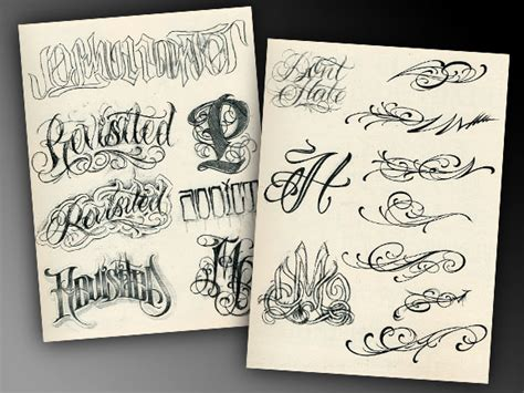 tattoo lettering pdf the bj betts lettering combo 5 pack tattoo education