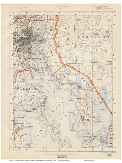 lincoln rhode island map rhode island usgs maps 1891 walker atlas