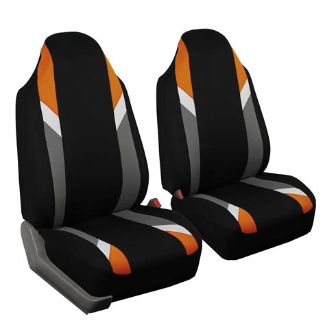 orange car seat highback 2 front car seat cover for auto orange ebay