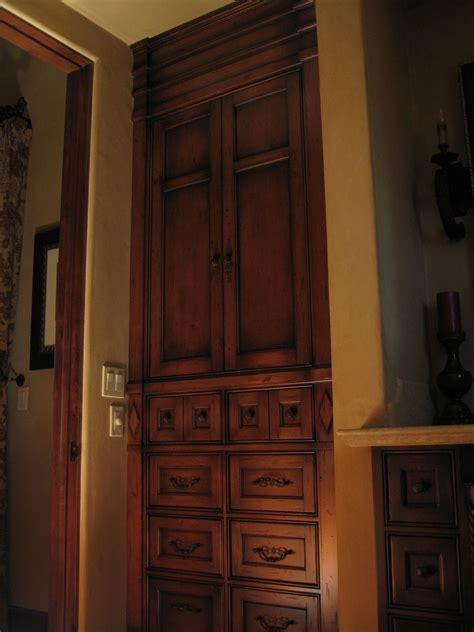 custom armoires hand crafted custom alder built in armoire by ps woodworking custommade com