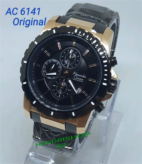 jual jam tangan pria alexandre christie original ac