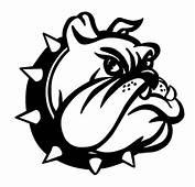 Bulldog Head Silhouette