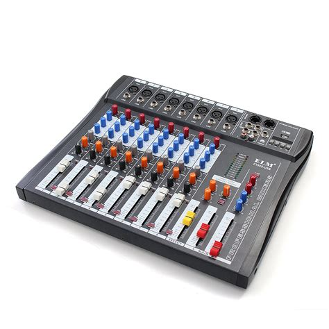 phantom console ct80s 8 channel professional live studio audio mixer with