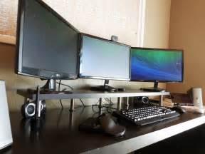 Computer Desk Monitor Shelf monitor stand ikea hackers