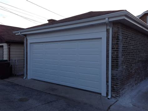 Garage Door Fascia Newly Installed Chi Door With New Trim Soffit And Fascia And Gutters Yelp