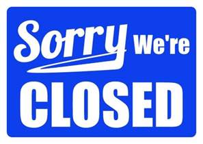 business closed sign template business signs closed for holidays pictures to pin on