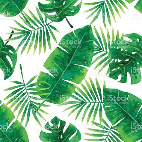 watercolor tropical pattern watercolor seamless tropical pattern stock vector art