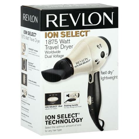 Hair Dryer Watt Terkecil revlon ion select travel dryer 1 875 watt kmart