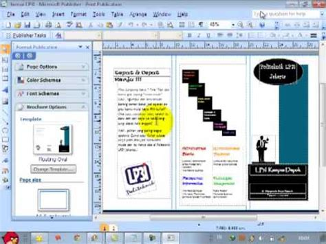 cara membuat flyer online cara membuat brosur di microsoft publisher youtube