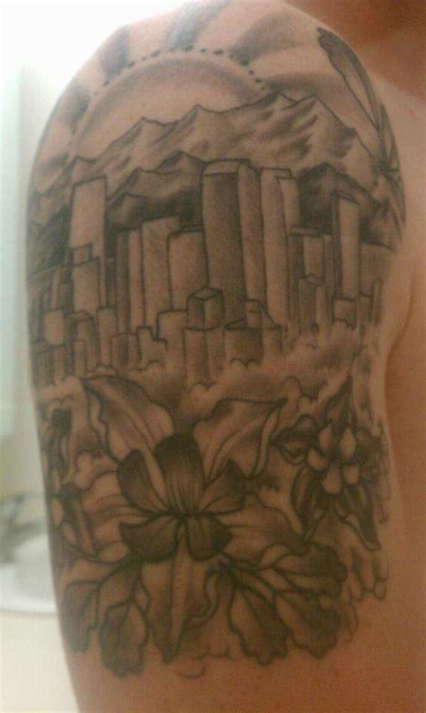 denver skyline tattoo denver skyline
