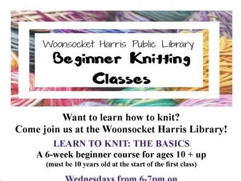 knitting classes at oct 12 beginner knitting classes at the harris library