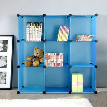 brand new portable plastic diy movable bookshelf in cheap