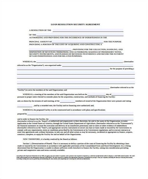 10 Security Agreement Form Sles Free Sle Exle Format Download Loan And Security Agreement Template