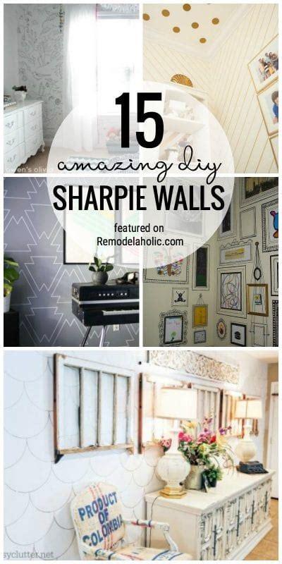 remodelaholic  amazing diy sharpie walls