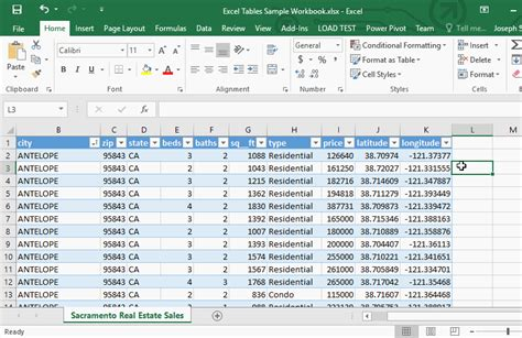 Table Tab Excel Tables Spreadsheets Made Easy