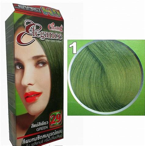 permanent hair dye color green caring elegance hd permanent color cream green 29