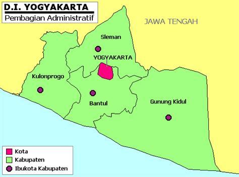 daftar kabupaten lan kota nang daerah istimewa yogyakarta