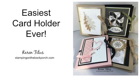 how to make a card holder how to make the easiest card holder