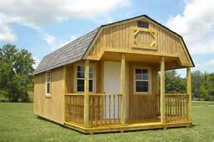 cabin lofted wood amish built barns llc