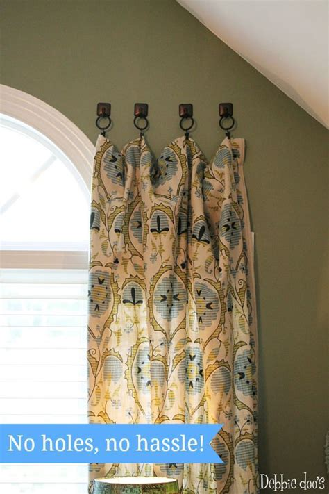 hanging curtains with valance 1000 ideas about large window curtains on