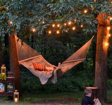 backyard hammock garden outdoors