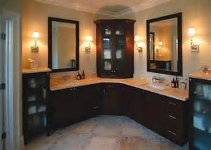 bathroom corner vanity cabinets custom l shaped bathroom cabinets sink decolover net
