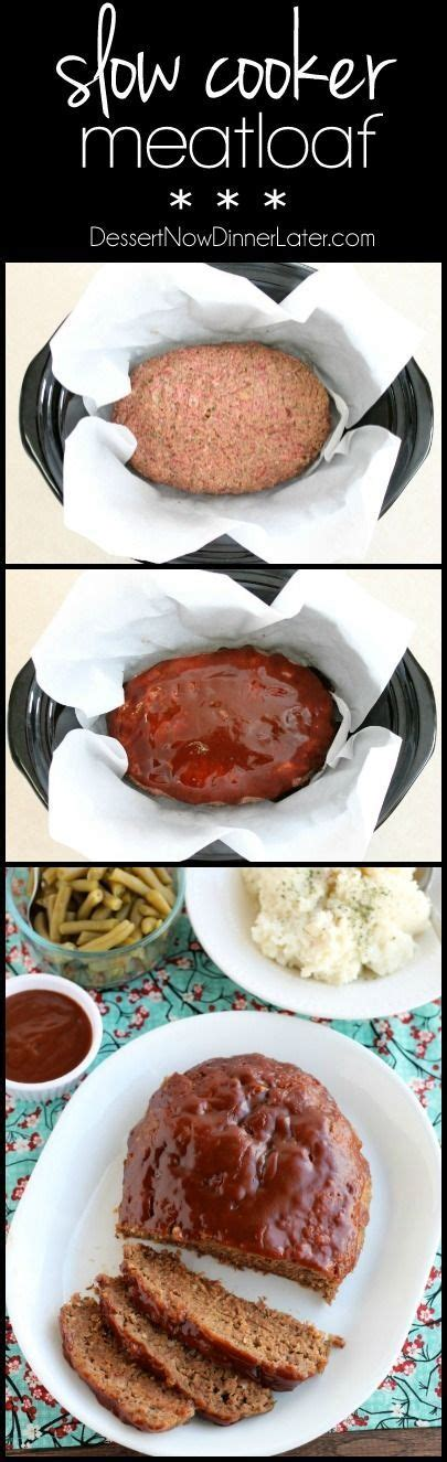 slow cooker meatloaf balsamic glaze and parchment paper on pinterest