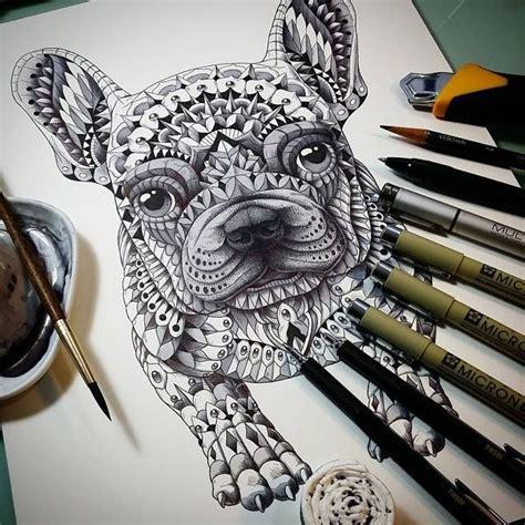 tattoo pen for dogs 119 best zentangle honden images on pinterest zen