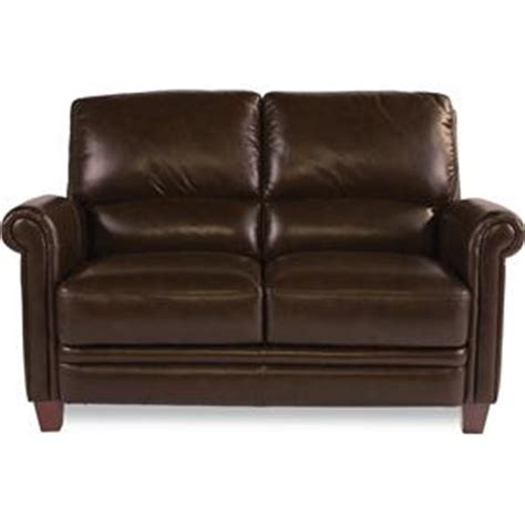 Furniture Worcester by La Z Boy Julius Leather Sofa With Bustle Back And Rolled