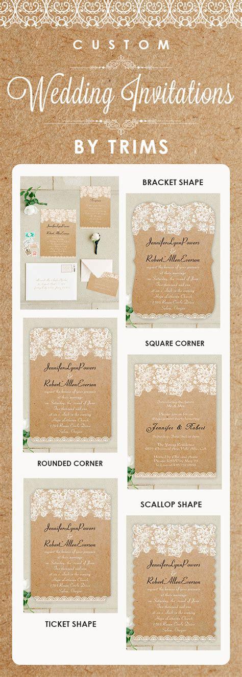 Wedding Invitation Options by Customizing Options Of The Wedding Invitations From