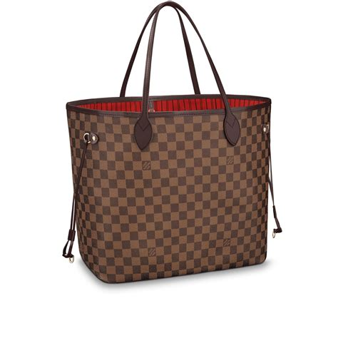 Tas Lv Alma Medium 25cm neverfull gm damier ebene canvas handbags louis vuitton