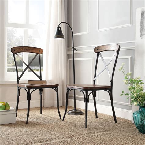 modern industrial dining set nelson industrial modern rustic cross back dining chair by